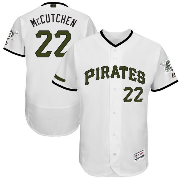 Men's Pittsburgh Pirates #22 Andrew McCutchen Majestic White 2017 Memorial Day Authentic Collection Flex Base Player Stitched MLB Jersey