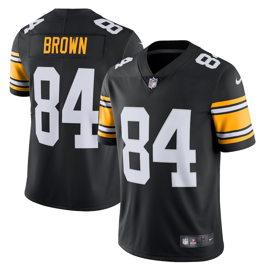 Men's Pittsburgh Steelers # 84 Antonio Brown Black Vapor Untouchable Limited Stitched NFL Jersey