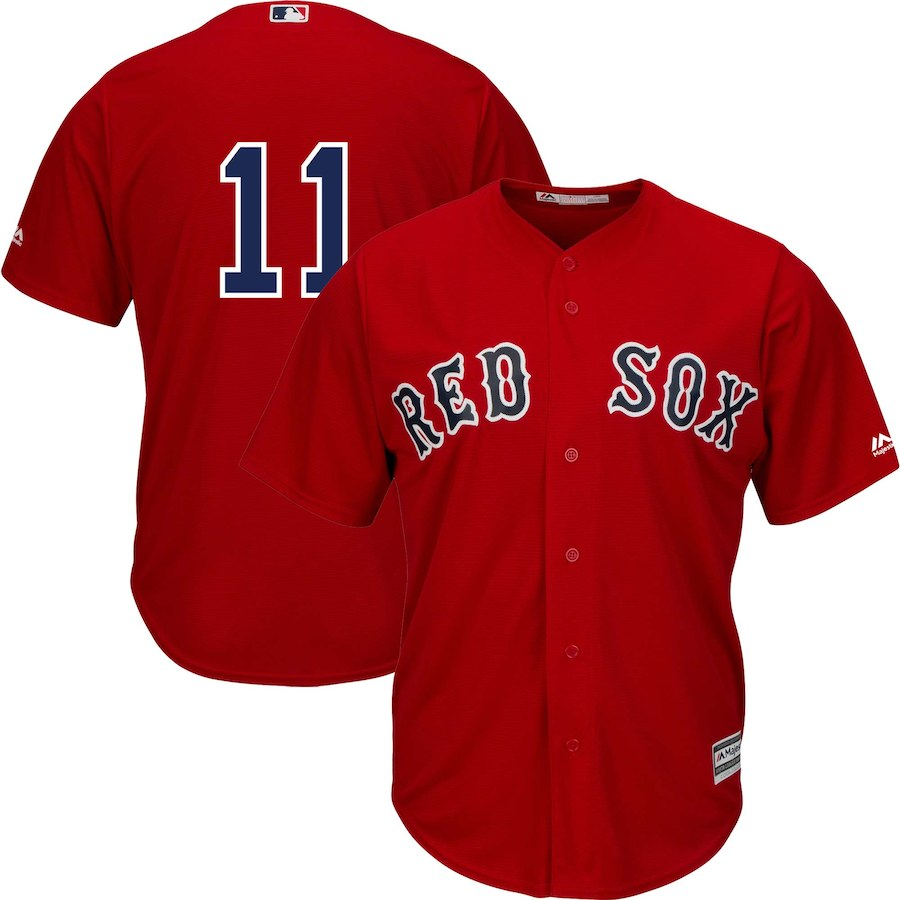Men's Boston Red Sox Rafael Devers Scarlet Alternate Official Cool Base Replica Player Jersey