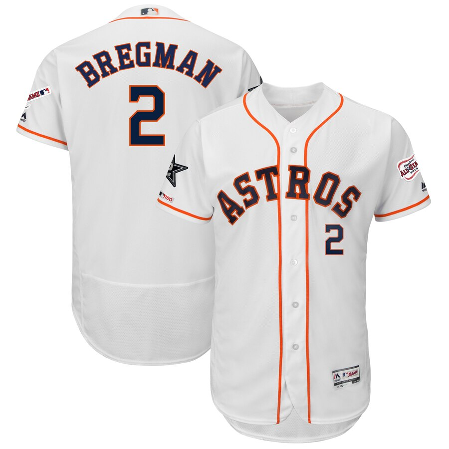 Men's Houston Astros Alex Bregman White 2019 MLB All-Star Game Collection Flex Base Player Jersey