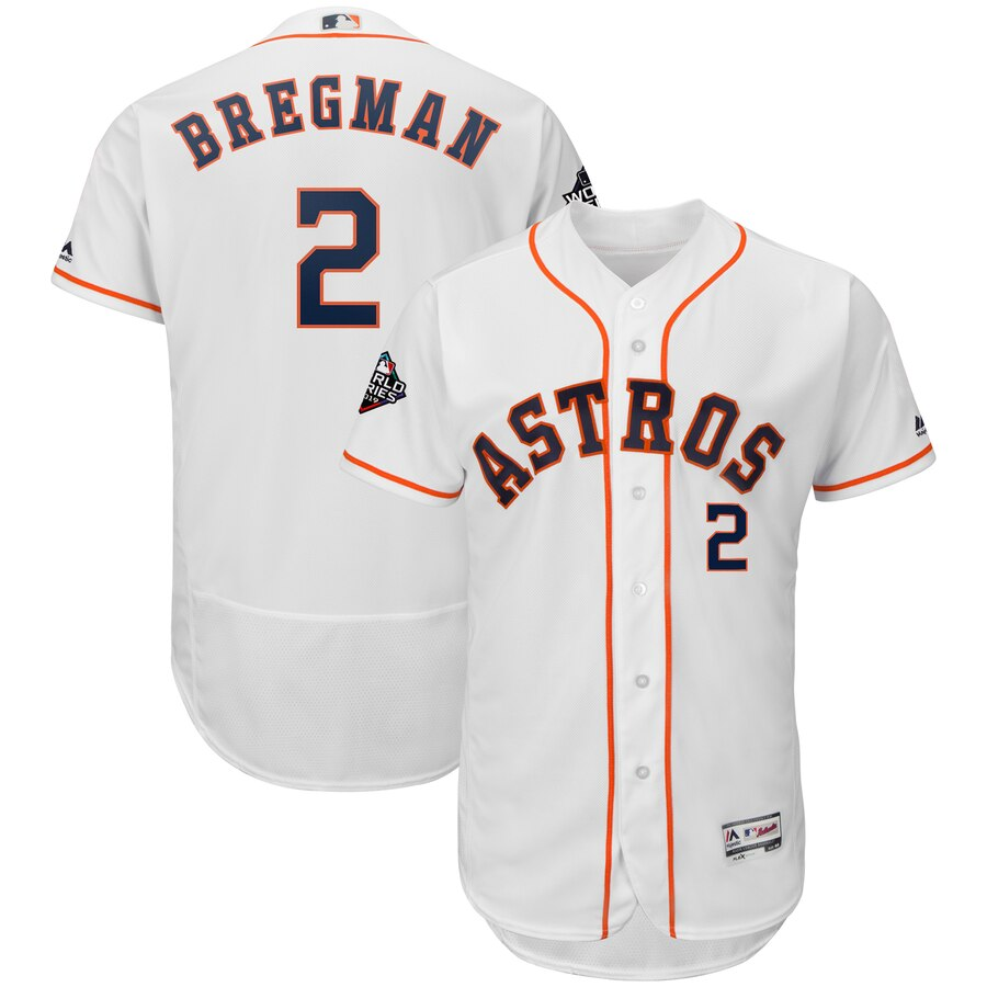 Men's Houston Astros Alex Bregman White 2019 World Series Bound Flex Base Player Jersey