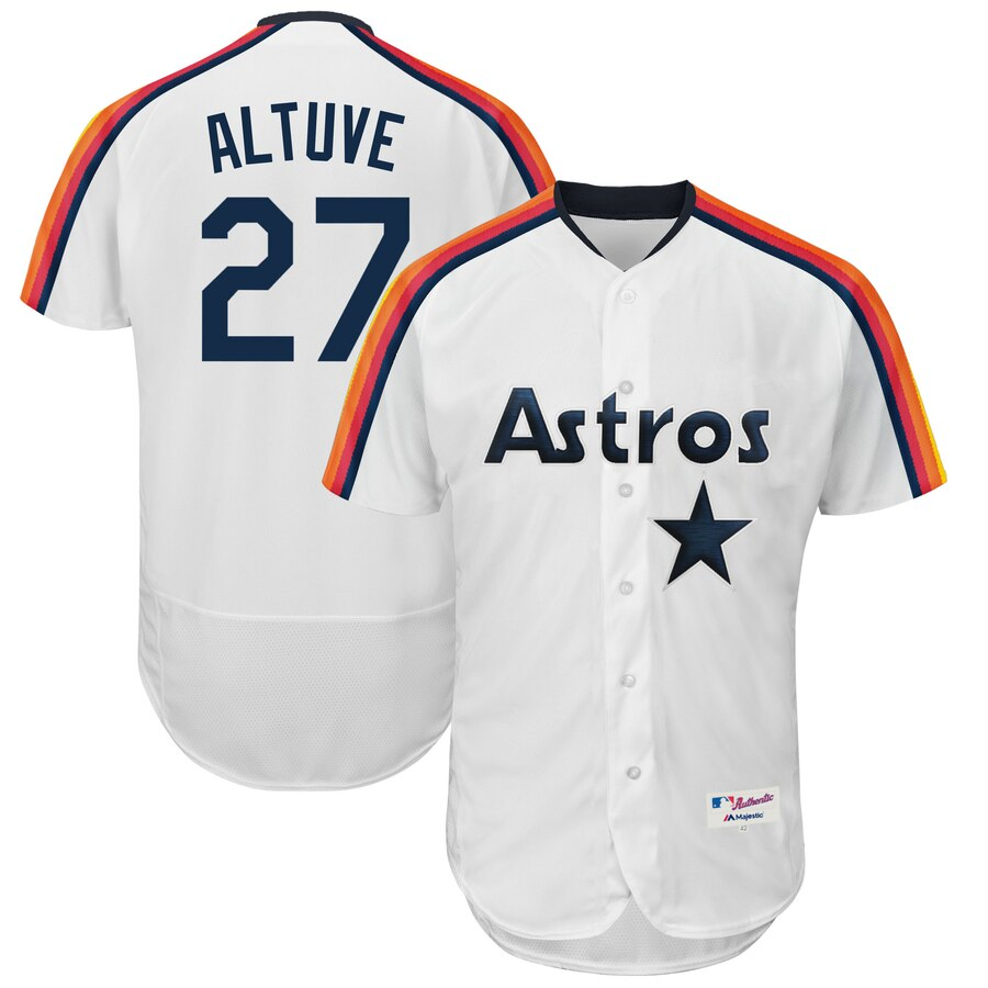 Men's Houston Astros Jose Altuve White 1989 Turn Back the Clock Player Jersey