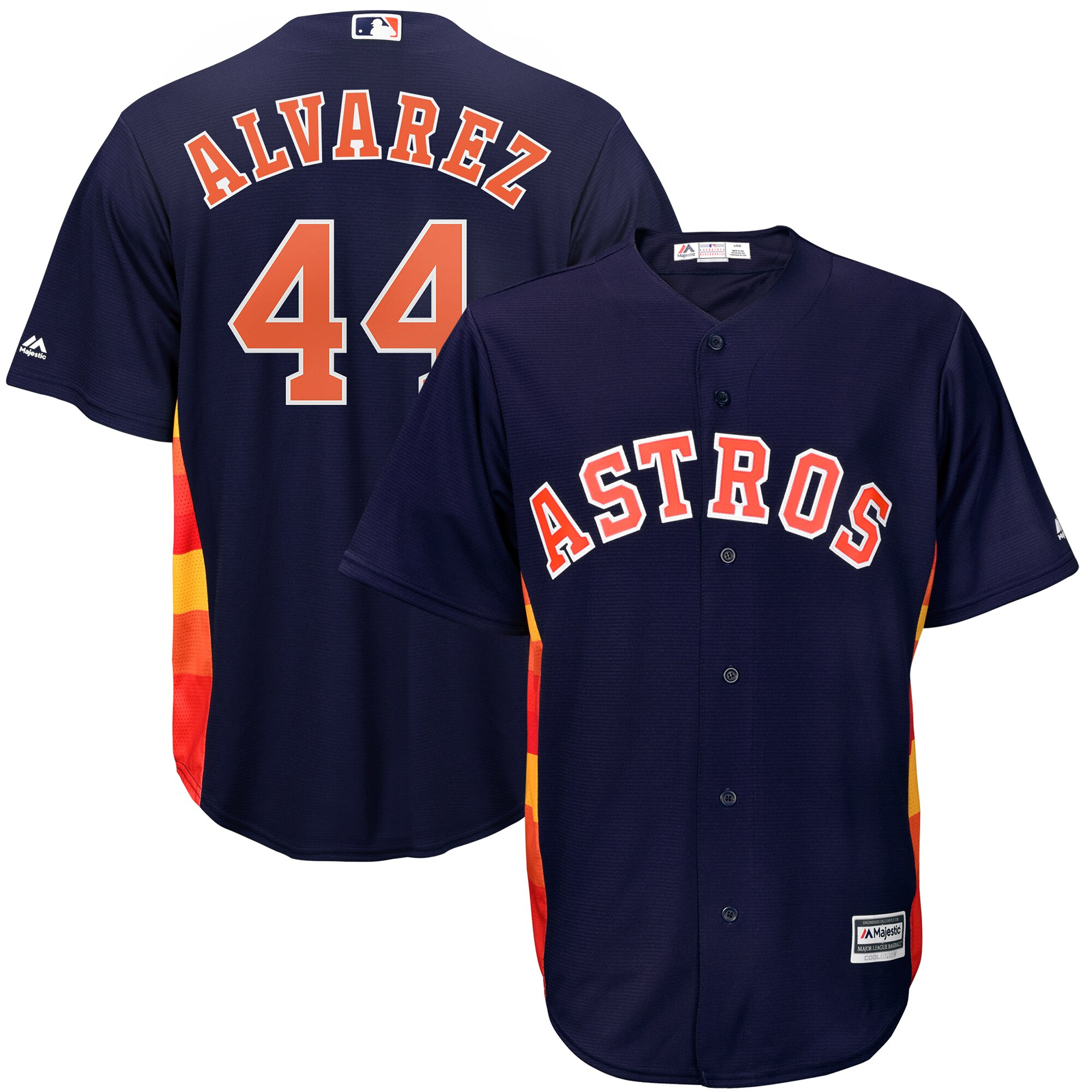 Men's Houston Astros Yordan Alvarez Navy Home Official Cool Base Player Jersey