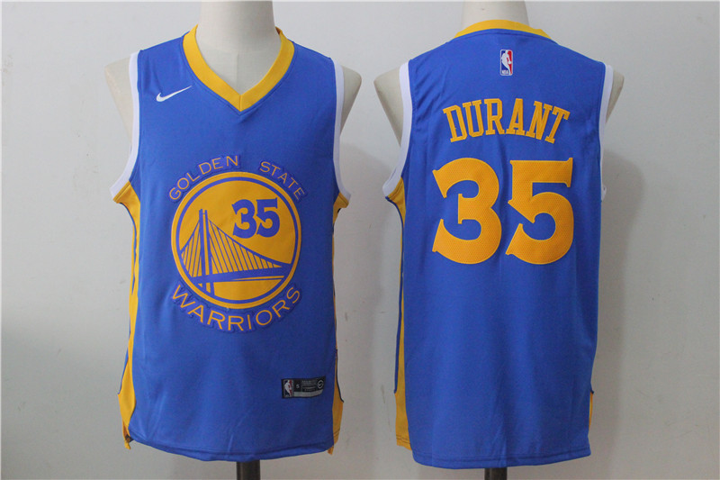 Men's Nike Golden State Warriors #35 Kevin Durant Royal Nike Road Stitched NBA Jersey
