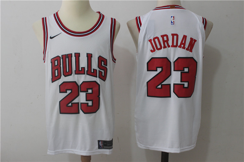 Men's Nike Chicago Bulls #23 Michael Jordan White Stitched NBA Jersey
