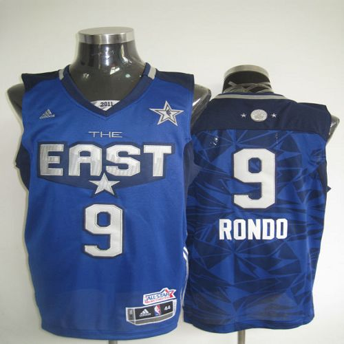 2011 All Star Celtics #9 Rajon Rondo Blue Stitched NBA Jersey