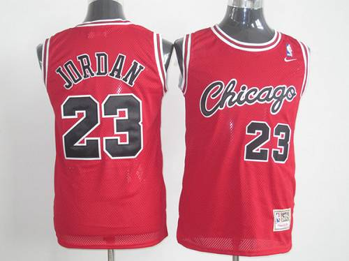 Bulls #23 Michael Jordan Red Nike Throwback Stitched NBA Jersey