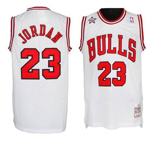 Mitchell And Ness 1998 Bulls #23 Michael Jordan White Stitched NBA Jersey