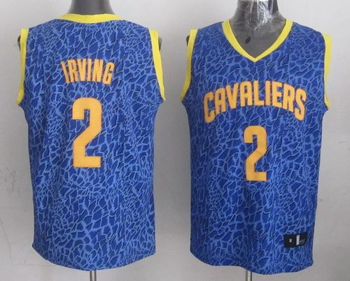 Cavaliers #2 Kyrie Irving Blue Crazy Light Stitched NBA Jersey