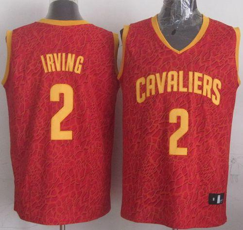 Cavaliers #2 Kyrie Irving Red Crazy Light Stitched NBA Jersey