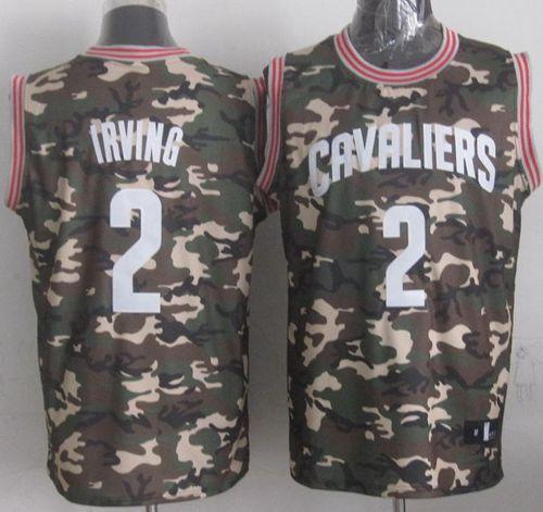Cavaliers #2 Kyrie Irving Camo Stealth Collection Stitched NBA Jersey