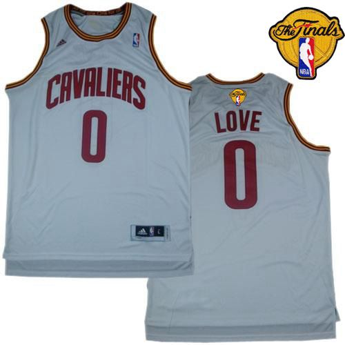 Revolution 30 Cavaliers #0 Kevin Love White The Finals Patch Stitched NBA Jersey