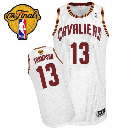 Revolution 30 Cavaliers #13 Tristan Thompson White The Finals Patch Stitched NBA Jersey