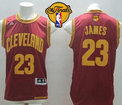 Revolution 30 Cavaliers #23 LeBron James Red Road The Finals Patch Stitched NBA Jersey