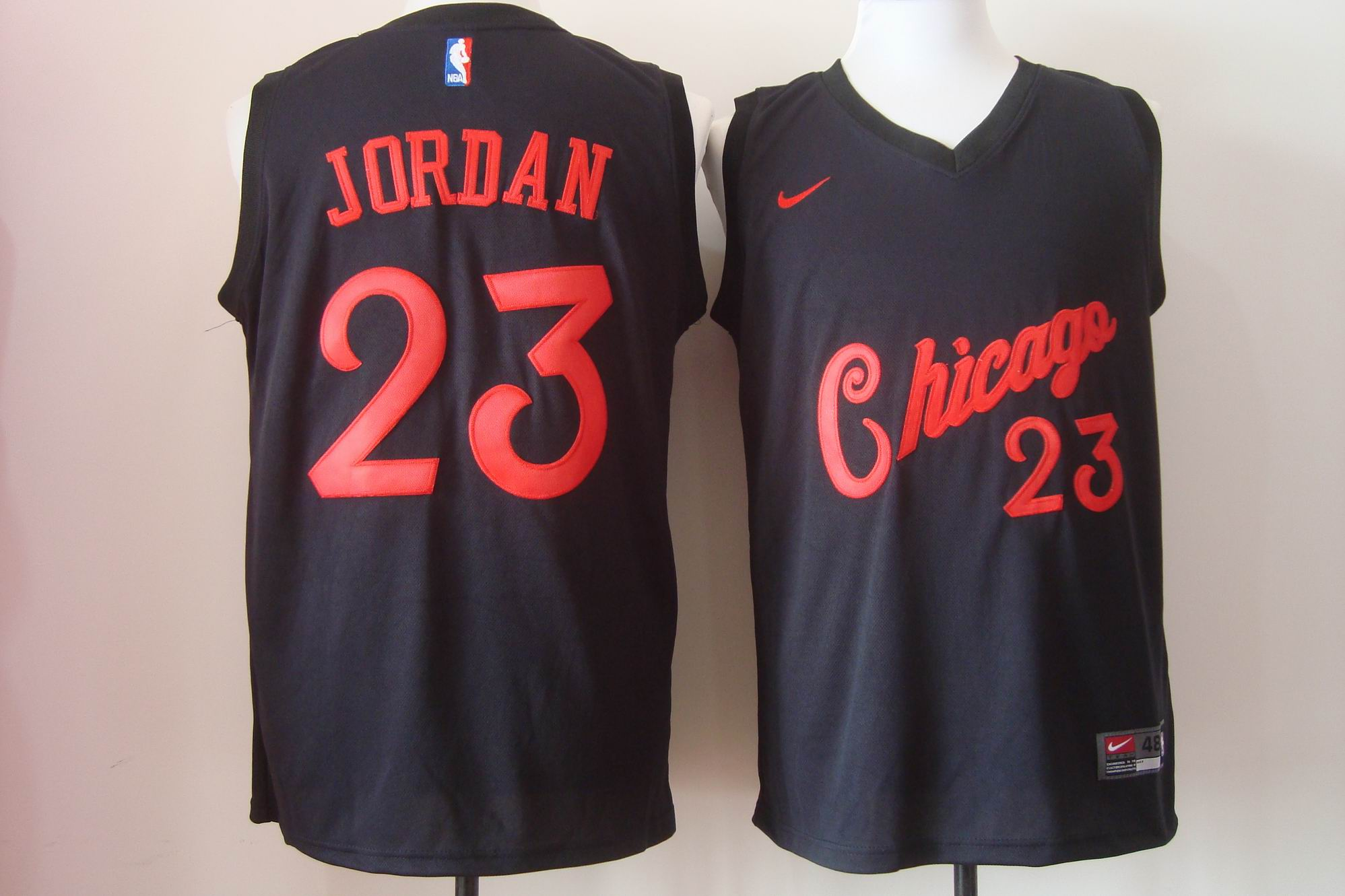 Men's Nike Chicago Bulls #23 Michael Jordan New Black Fashion Stitched NBA Jersey