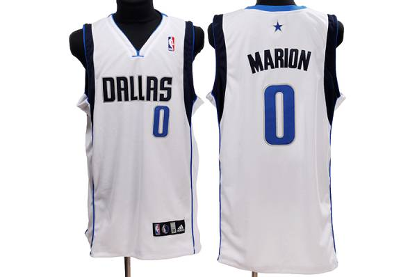 Mavericks #0 Shawn Marion Stitched NBA White Jersey