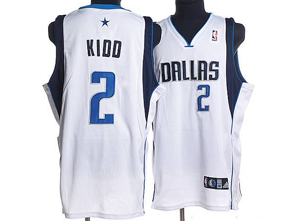 Mavericks #2 Jason Kidd Stitched NBA White Jersey