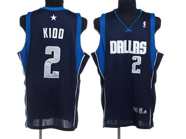Mavericks #2 Jason Kidd Stitched NBA Blue Jersey
