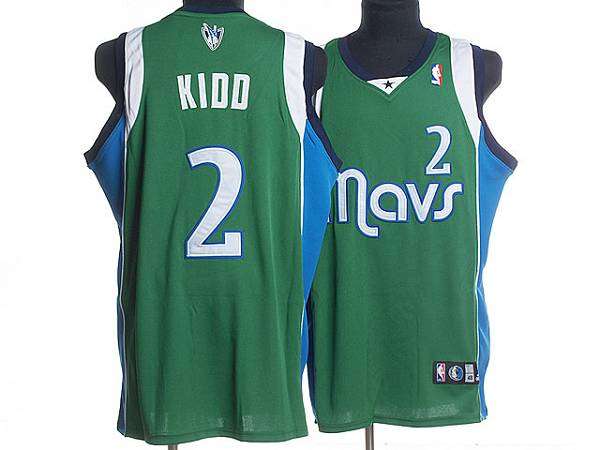 Mavericks #2 Jason Kidd Stitched NBA Green Jersey