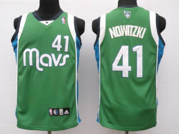 Mavericks #41 Dirk Nowitzki Stitched NBA Green Jersey