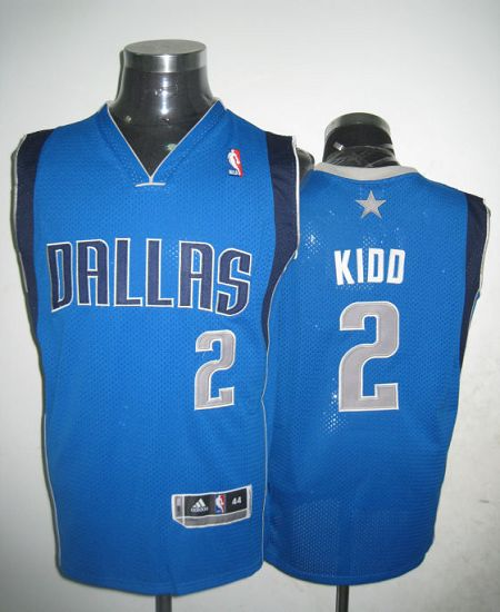 Revolution 30 Mavericks #2 Jason Kidd Blue Stitched NBA Jersey