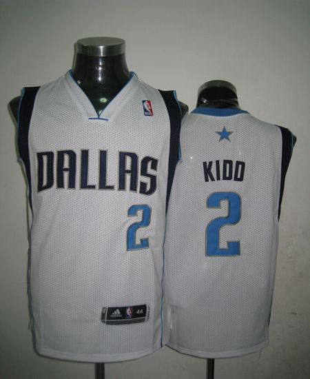 Revolution 30 Mavericks #2 Jason Kidd White Stitched NBA Jersey