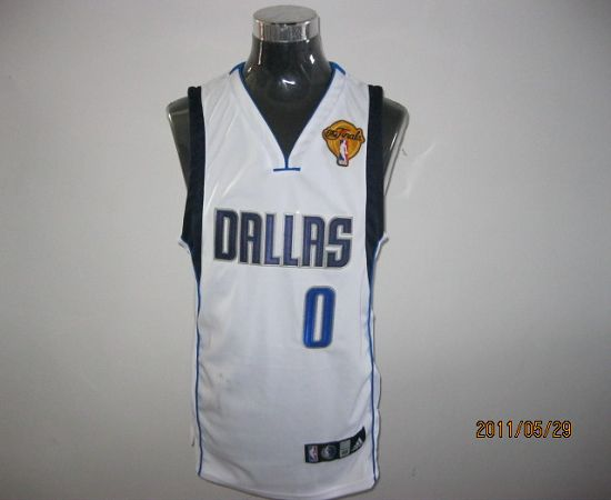 Mavericks2011 Finals Patch #0 Shawn Marion White Stitched NBA Jersey