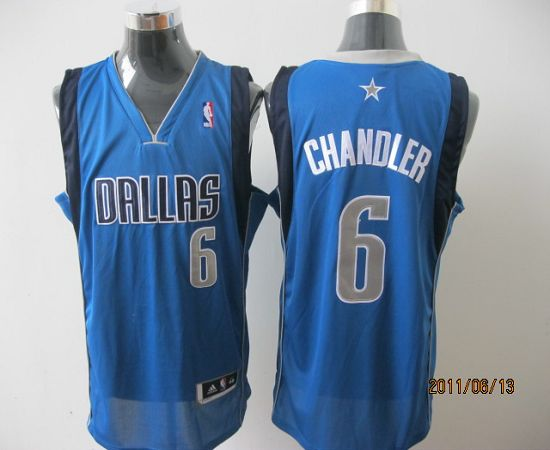 Mavericks Revolution 30 #6 Tyson Chandler Sky Blue Stitched NBA Jersey