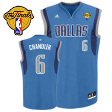 Mavericks 2011 Finals Patch #6 Tyson Chandler Revolution 30 Sky Blue Stitched NBA Jersey