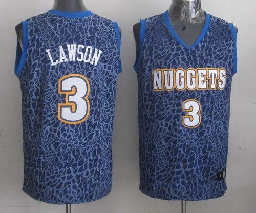Nuggets #3 Ty Lawson Dark Blue Crazy Light Stitched NBA Jersey