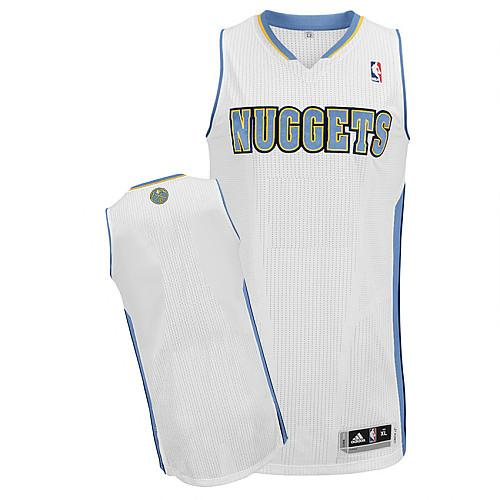 Revolution 30 Nuggets Blank White Stitched NBA Jersey