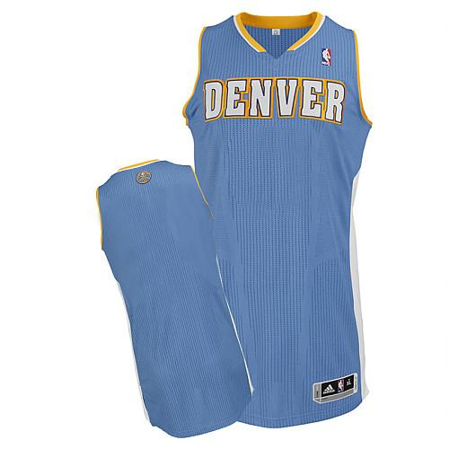 Revolution 30 Nuggets Blank Baby Blue Stitched NBA Jersey