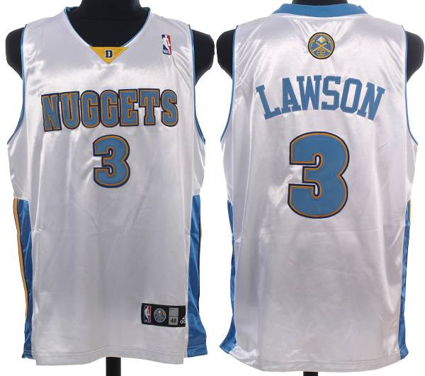 Nuggets #3 Ty Lawson Stitched White NBA Jersey