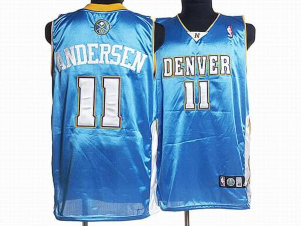 Nuggets #11 Chris Andersen Stitched Baby Blue NBA Jersey