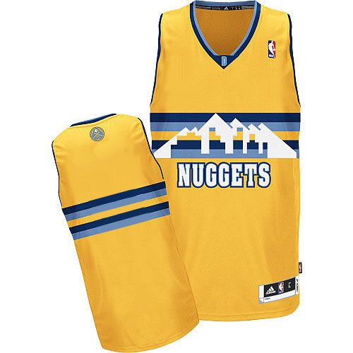 Revolution 30 Nuggets Blank Yellow Alternate Stitched NBA Jersey
