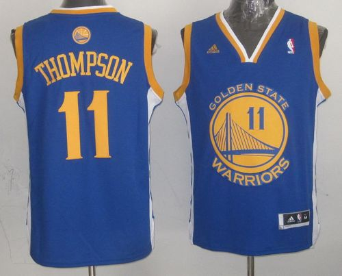 Warriors #11 Klay Thompson Blue Stitched NBA Jersey
