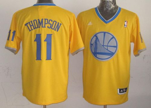 Warriors #11 Klay Thompson Gold 2013 Christmas Day Swingman Stitched NBA Jersey