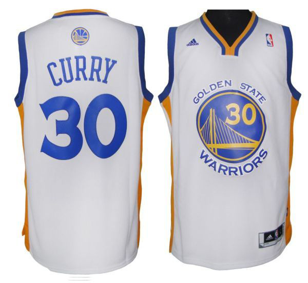 Warriors #30 Stephen Curry White Revolution 30 Stitched NBA Jersey