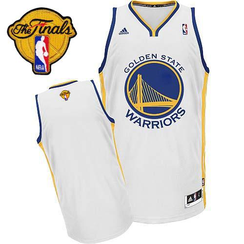 Revolution 30 Warriors Blank White The Finals Patch Stitched NBA Jersey