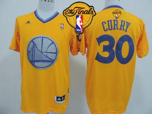 Warriors #30 Stephen Curry Gold 2013 Christmas Day Swingman The Finals Patch Stitched NBA Jersey