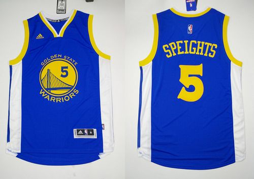 Revolution 30 Warriors #5 Marreese Speights Blue Stitched NBA Jersey