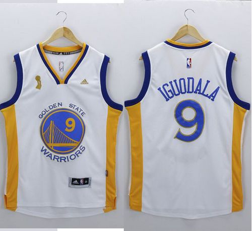 Warriors #9 Andre Iguodala White New Champions Stitched NBA Jersey