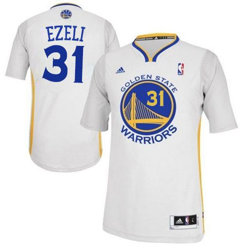 Revolution 30 Warriors #31 Festus Ezeli White Alternate Stitched NBA Jersey