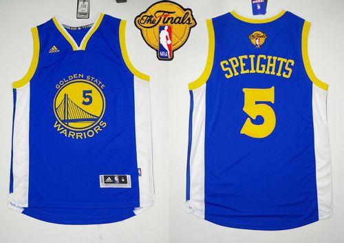 Revolution 30 Warriors #5 Marreese Speights Blue The Finals Patch Stitched NBA Jersey