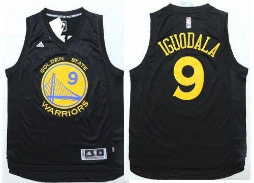 Warriors #9 Andre Iguodala Black Fashion Stitched NBA Jersey