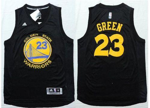 Warriors #23 Draymond Green Black Fashion Stitched NBA Jersey