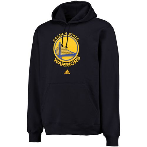 Adidas Golden State Warriors Logo Pullover Hoodie Sweatshirt Navy