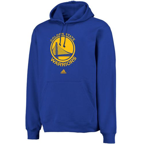 Adidas Golden State Warriors Logo Pullover Hoodie Sweatshirt Royal