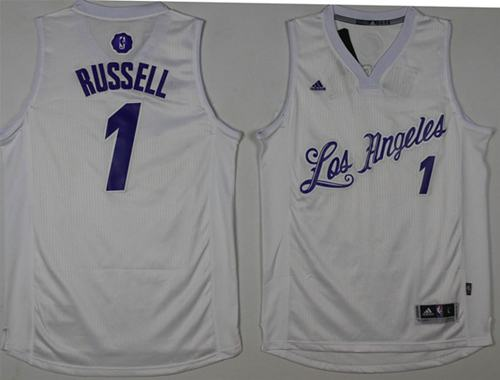Lakers #1 D'Angelo Russell White 2016-2017 Christmas Day Stitched NBA Jersey