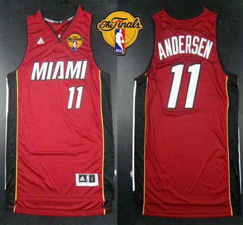 Revolution 30 Heat #11 Chris Andersen Red Finals Patch Stitched NBA Jersey